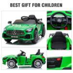 12V Mercedes-Benz GTR-AMG Kids Electric Ride On Car, Green benz gtr amg licensed 12v electric car black 13