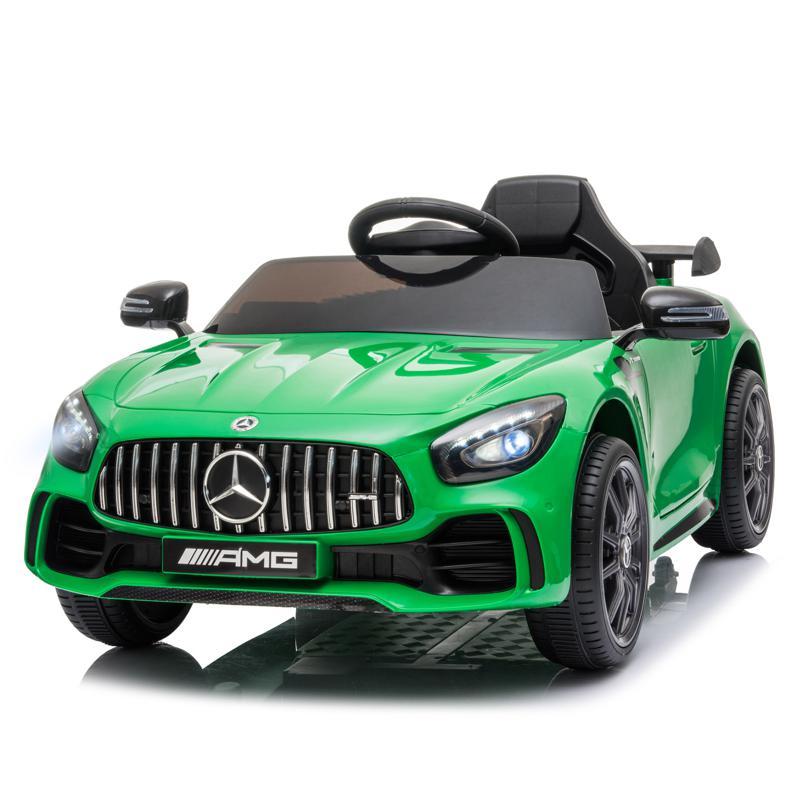 12V Mercedes-Benz GTR-AMG Kids Electric Ride On Car, Green benz gtr amg licensed 12v electric car black 26