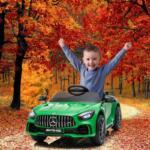12V Mercedes-Benz GTR-AMG Kids Electric Ride On Car, Green benz gtr amg licensed 12v electric car black 4