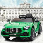 12V Mercedes-Benz GTR-AMG Kids Electric Ride On Car, Green benz gtr amg licensed 12v electric car black 5