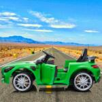 12V Mercedes-Benz GTR-AMG Kids Electric Ride On Car, Green benz gtr amg licensed 12v electric car black 6