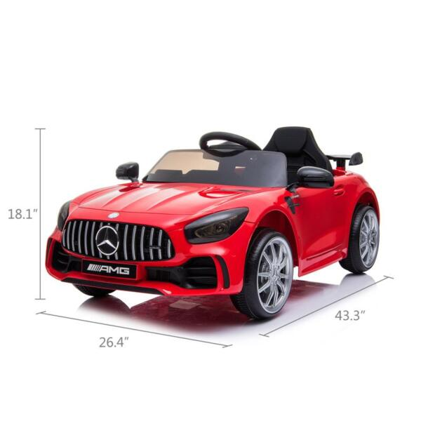 12V Mercedes-Benz GTR-AMG Kids Electric Ride On Car, Red benz gtr amg licensed 12v electric car red 15 1