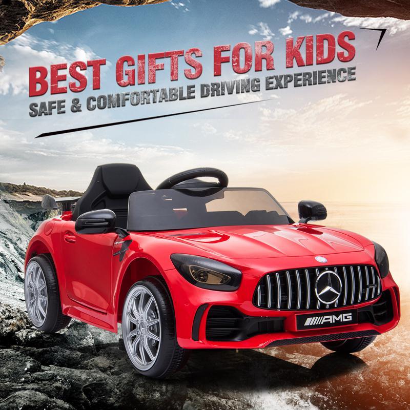 12V Mercedes-Benz GTR-AMG Kids Electric Ride On Car, Red benz gtr amg licensed 12v electric car red 17 2