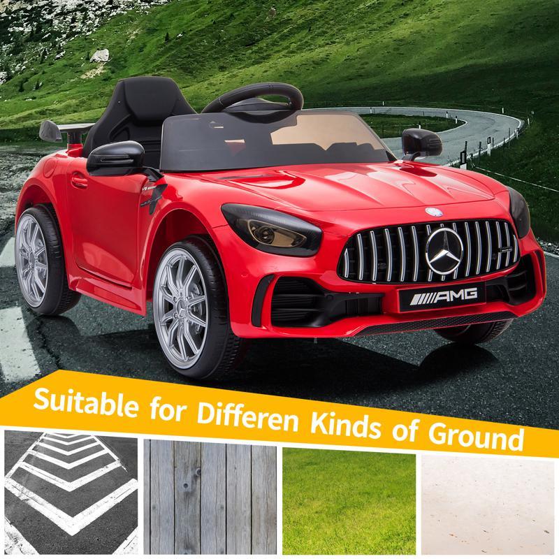 12V Mercedes-Benz GTR-AMG Kids Electric Ride On Car, Red benz gtr amg licensed 12v electric car red 18 2
