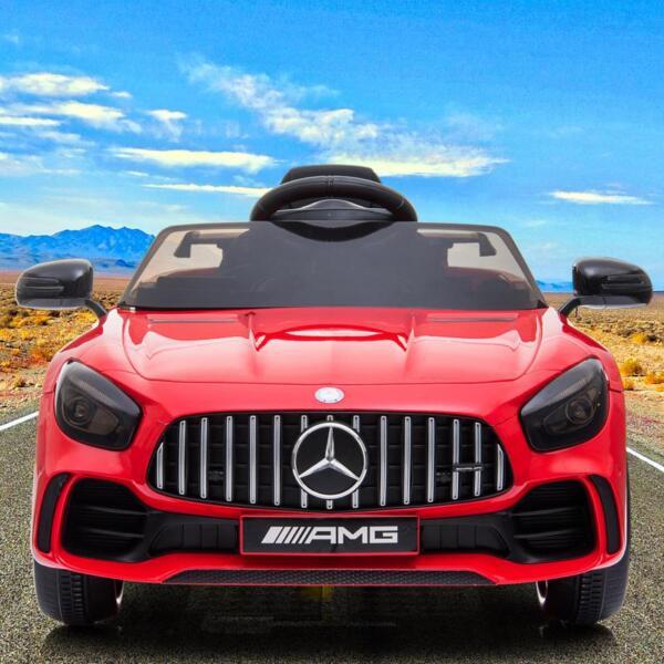 12V Mercedes-Benz GTR-AMG Kids Electric Ride On Car, Red benz gtr amg licensed 12v electric car red 21