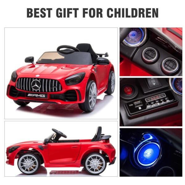 12V Mercedes-Benz GTR-AMG Kids Electric Ride On Car, Red benz gtr amg licensed 12v electric car red 26