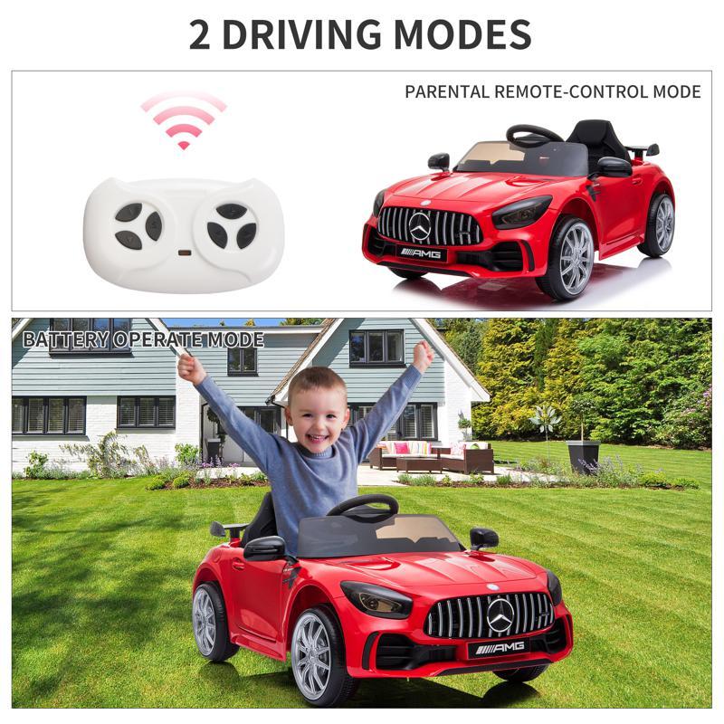 12V Mercedes-Benz GTR-AMG Kids Electric Ride On Car, Red benz gtr amg licensed 12v electric car red 36 2