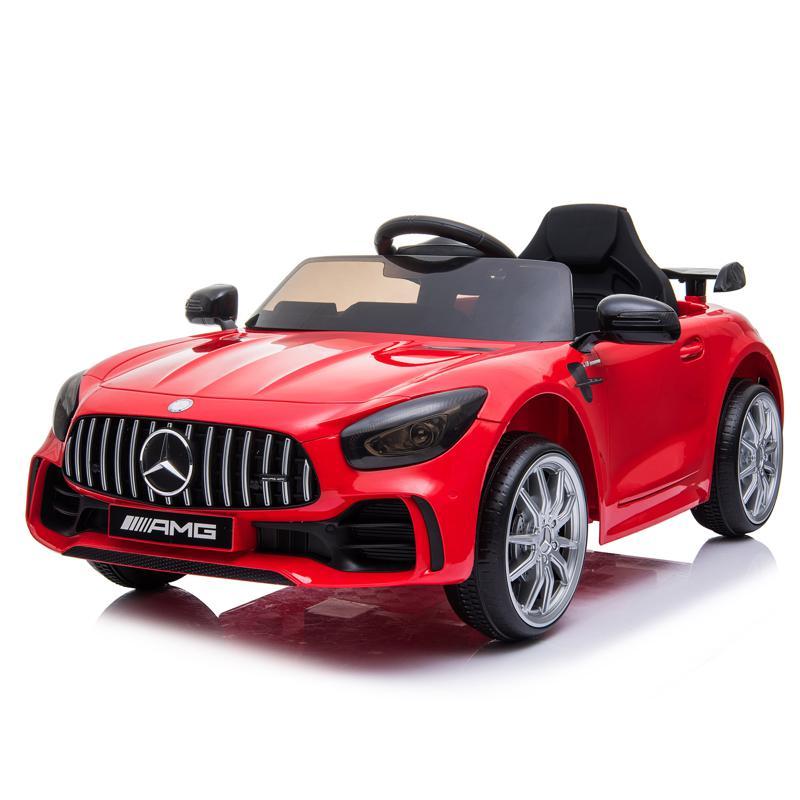 12V Mercedes-Benz GTR-AMG Kids Electric Ride On Car, Red benz gtr amg licensed 12v electric car red 8