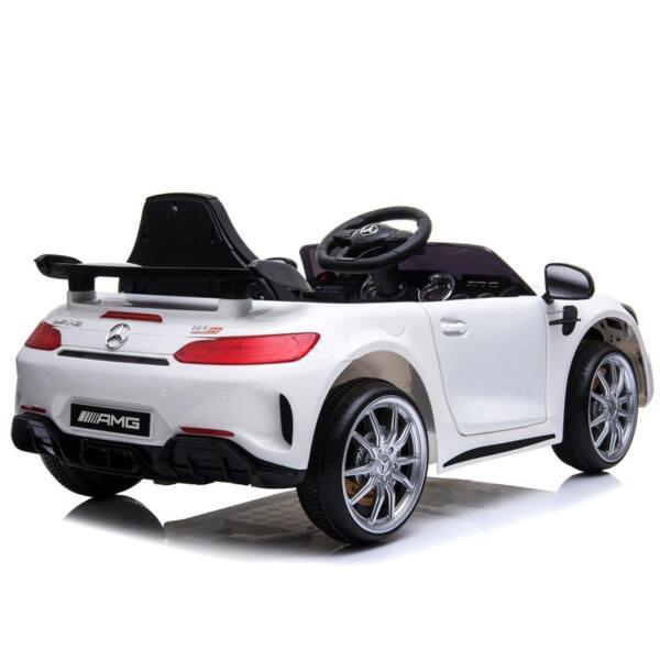 12V Mercedes-Benz GTR-AMG Kids Electric Ride On Car, White benz gtr amg licensed 12v electric car white 10