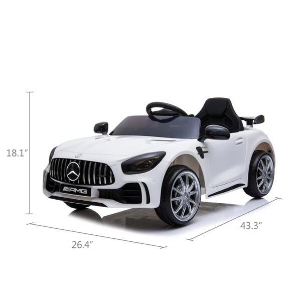 12V Mercedes-Benz GTR-AMG Kids Electric Ride On Car, White benz gtr amg licensed 12v electric car white 14 1