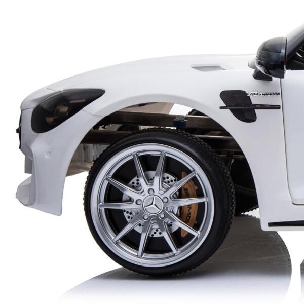 12V Mercedes-Benz GTR-AMG Kids Electric Ride On Car, White benz gtr amg licensed 12v electric car white 31