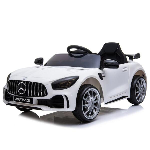12V Mercedes-Benz GTR-AMG Kids Electric Ride On Car, White benz gtr amg licensed 12v electric car white 6