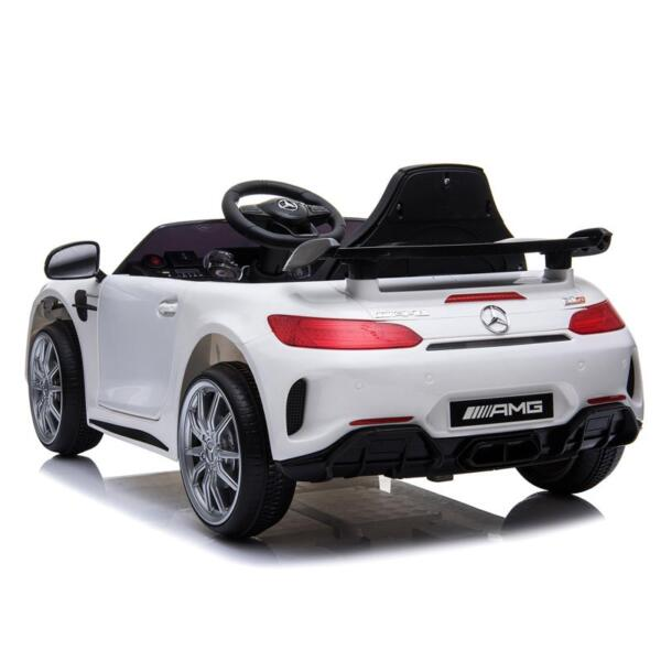 12V Mercedes-Benz GTR-AMG Kids Electric Ride On Car, White benz gtr amg licensed 12v electric car white 8