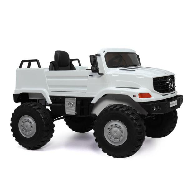 12V Mercedes Benz Truck For Kids With Remote, White benz licensed kids ride on truck white 13