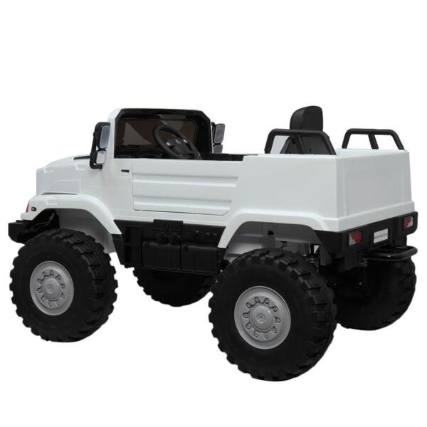 12V Mercedes Benz Truck For Kids With Remote, White benz licensed kids ride on truck white 14