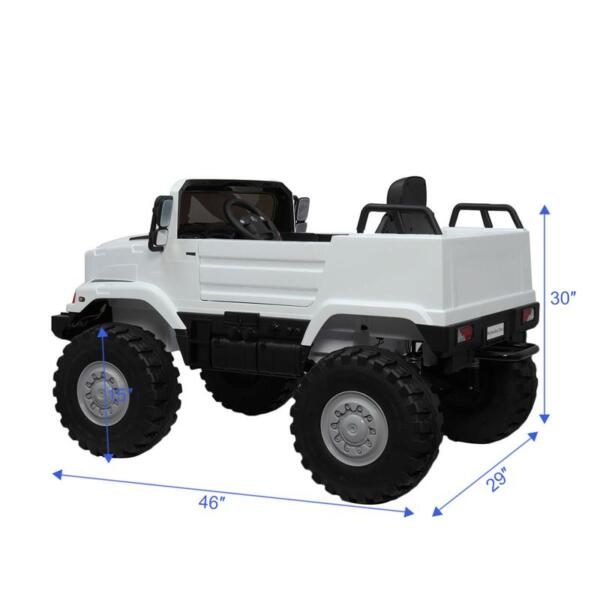 12V Mercedes Benz Truck For Kids With Remote, White benz licensed kids ride on truck white 18 1
