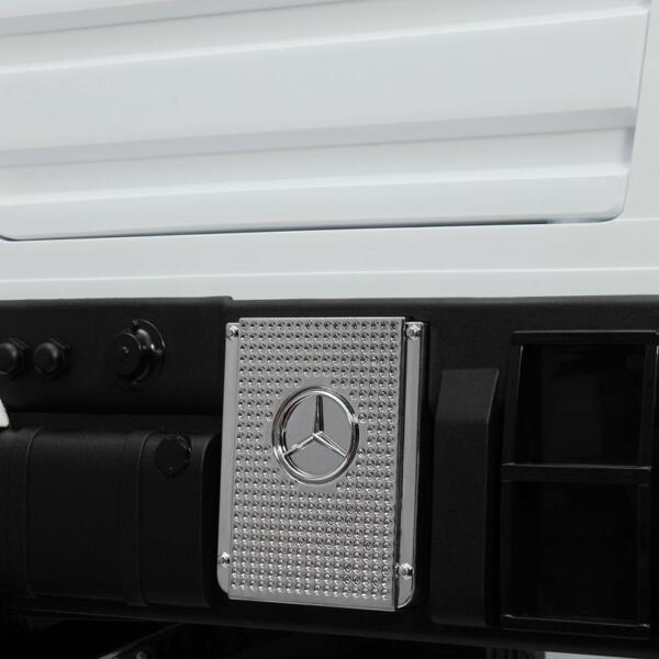 12V Mercedes Benz Truck For Kids With Remote, White benz licensed kids ride on truck white 19
