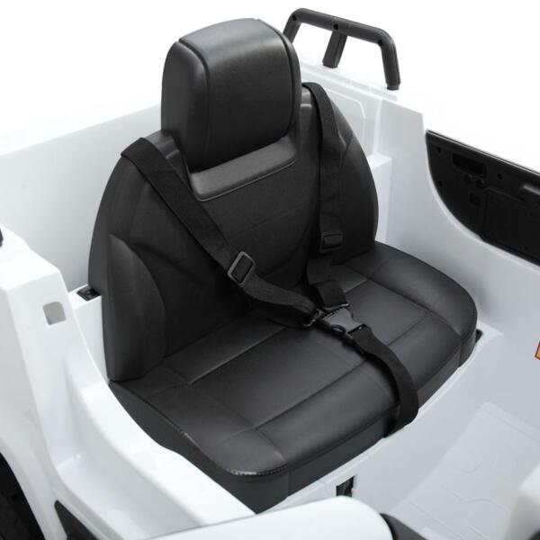 12V Mercedes Benz Truck For Kids With Remote, White benz licensed kids ride on truck white 20
