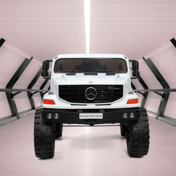 12V Mercedes Benz Truck For Kids With Remote, White benz licensed kids ride on truck white 5