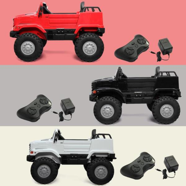 12V Mercedes Benz Truck For Kids With Remote, White benz licensed kids ride on truck white 7