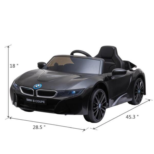 BMW Ride on Car With Remote Control For Kids, Black bmw licensed i8 12v kids ride on car black 14 1