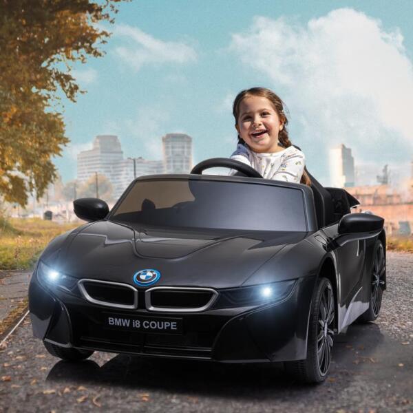 BMW Ride on Car With Remote Control For Kids, Black bmw licensed i8 12v kids ride on car black 15