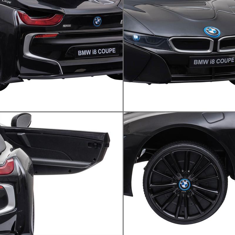 BMW Ride on Car With Remote Control For Kids, Black bmw licensed i8 12v kids ride on car black 25 1