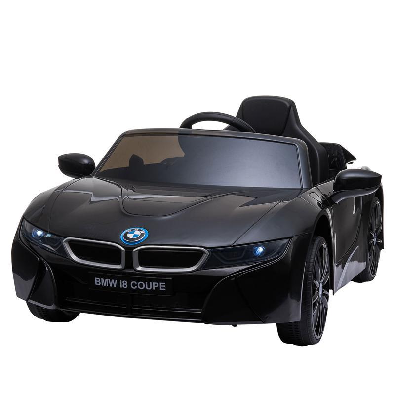 BMW Ride on Car With Remote Control For Kids, Black bmw licensed i8 12v kids ride on car black 5