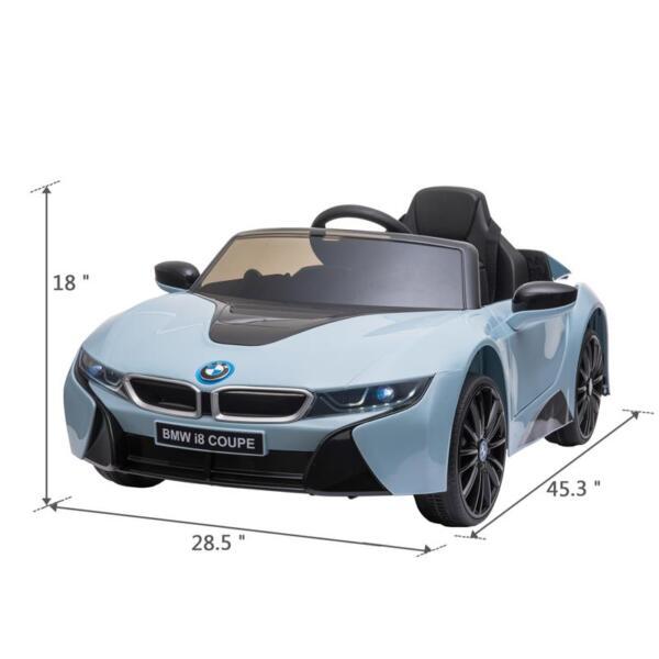 BMW Ride on Car With Remote Control For Kids, Blue bmw licensed i8 12v kids ride on car blue 11 1
