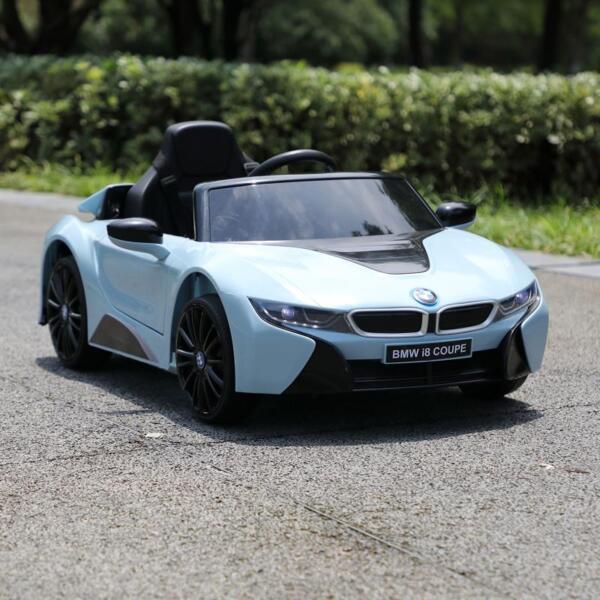 BMW Ride on Car With Remote Control For Kids, Blue bmw licensed i8 12v kids ride on car blue 15