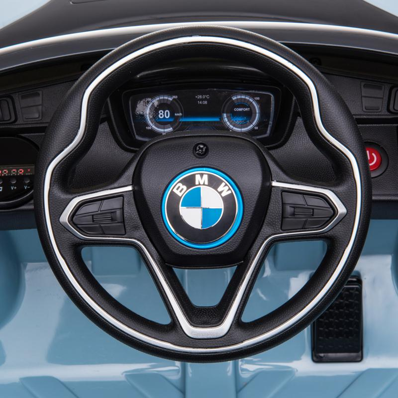 BMW Ride on Car With Remote Control For Kids, Blue bmw licensed i8 12v kids ride on car blue 19 2