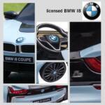 BMW Ride on Car With Remote Control For Kids, Blue bmw licensed i8 12v kids ride on car blue 28