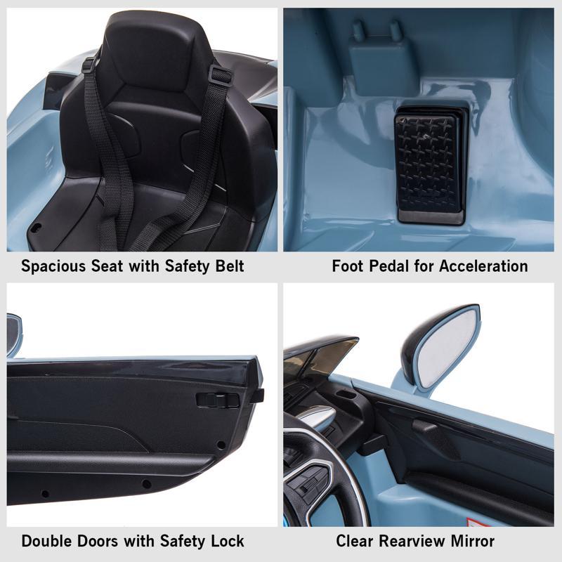 BMW Ride on Car With Remote Control For Kids, Blue bmw licensed i8 12v kids ride on car blue 30