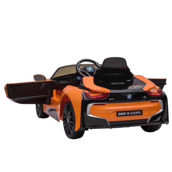 BMW Licensed i8 12V Kids Ride on Car, Orange bmw licensed i8 12v kids ride on car orange 1