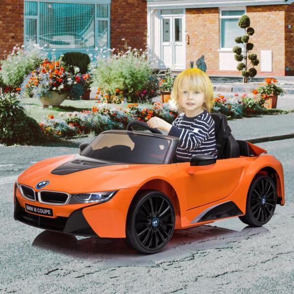 BMW Licensed i8 12V Kids Ride on Car, Orange bmw licensed i8 12v kids ride on car orange 15