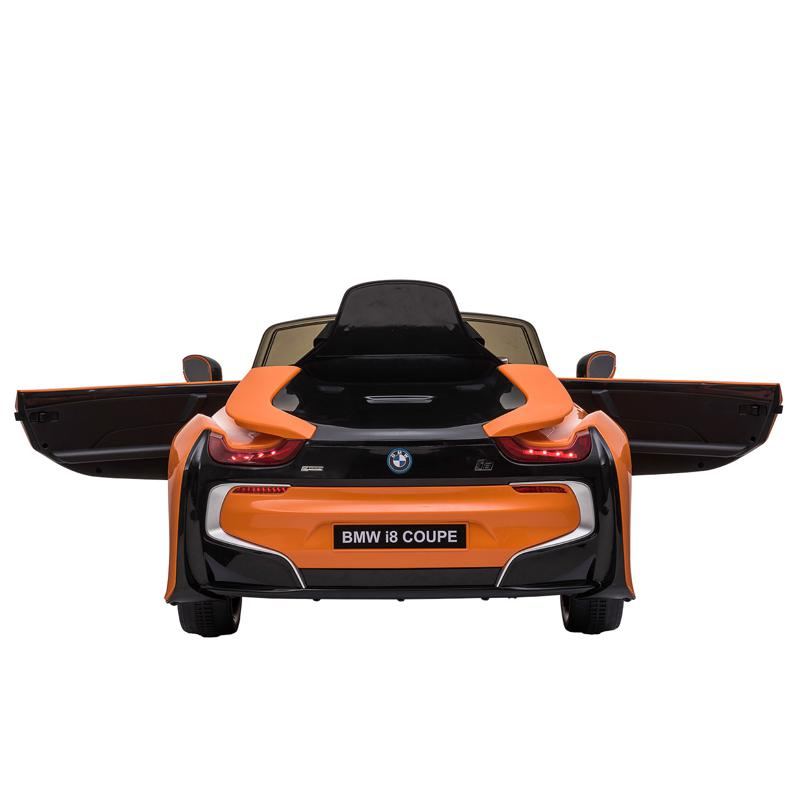 BMW Ride on Car With Remote Control For Kids, Orange bmw licensed i8 12v kids ride on car orange 2 1