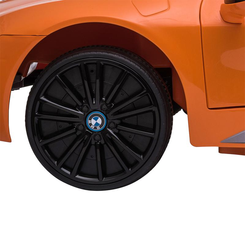 BMW Ride on Car With Remote Control For Kids, Orange bmw licensed i8 12v kids ride on car orange 22 2