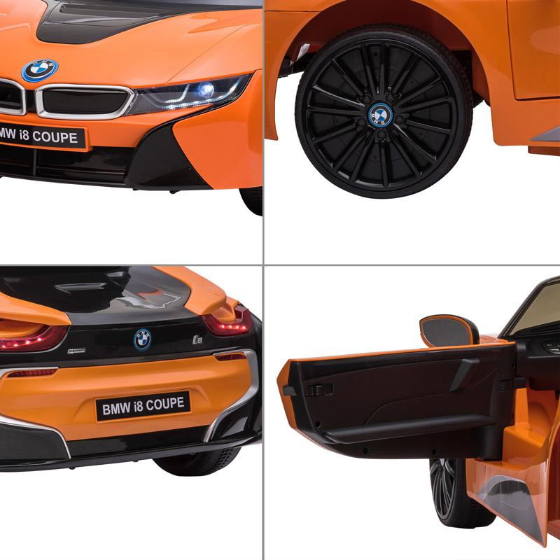 BMW Ride on Car With Remote Control For Kids, Orange bmw licensed i8 12v kids ride on car orange 26 1