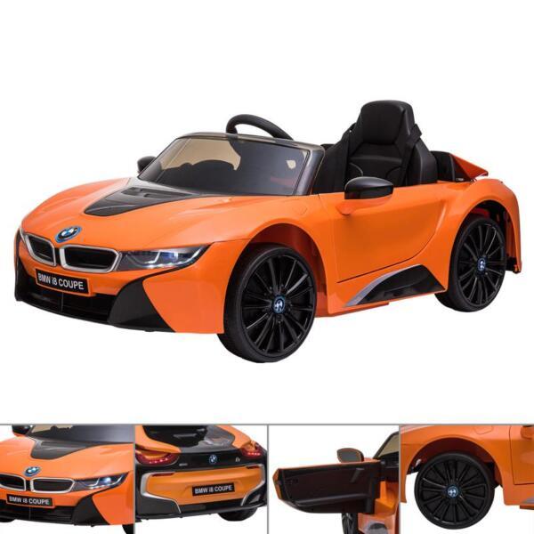 BMW Licensed i8 12V Kids Ride on Car, Orange bmw licensed i8 12v kids ride on car orange 27
