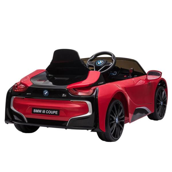 BMW Ride on Car With Remote Control For Kids, Red bmw licensed i8 12v kids ride on car red 10
