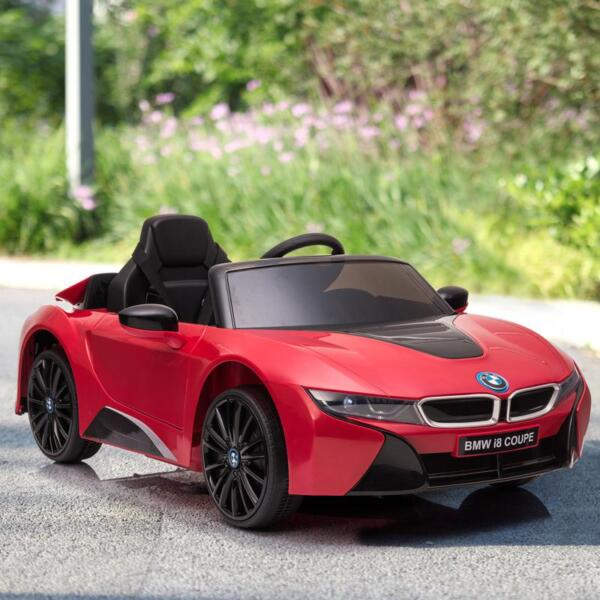 BMW Ride on Car With Remote Control For Kids, Red bmw licensed i8 12v kids ride on car red 13