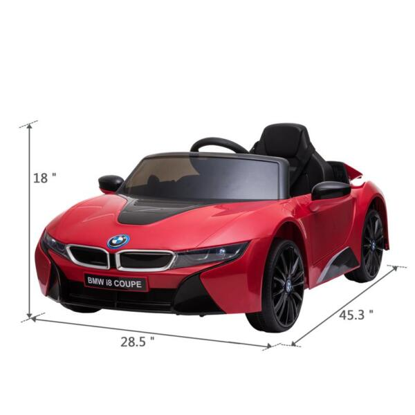 BMW Ride on Car With Remote Control For Kids, Red bmw licensed i8 12v kids ride on car red 14