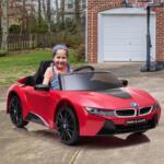 BMW Ride on Car With Remote Control For Kids, Red bmw licensed i8 12v kids ride on car red 16 1 1