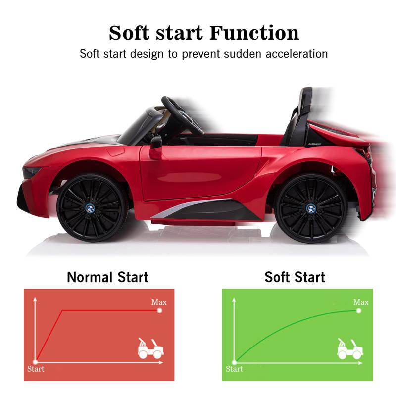 BMW Ride on Car With Remote Control For Kids, Red bmw licensed i8 12v kids ride on car red 23 2