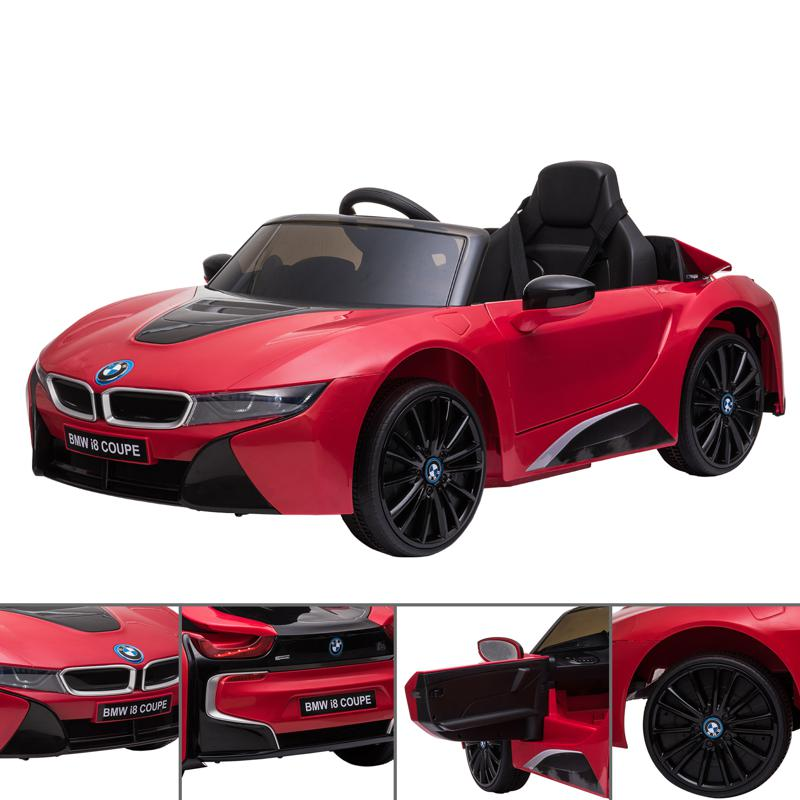 BMW Ride on Car With Remote Control For Kids, Red bmw licensed i8 12v kids ride on car red 24 1