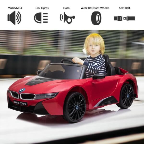 BMW Ride on Car With Remote Control For Kids, Red bmw licensed i8 12v kids ride on car red 26