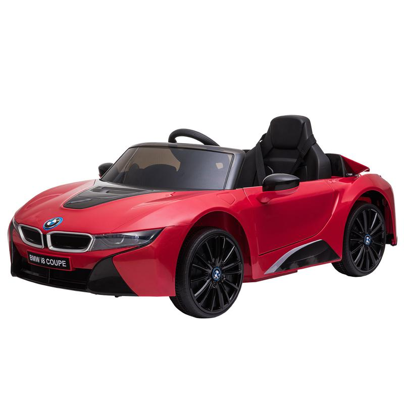 BMW Ride on Car With Remote Control For Kids, Red bmw licensed i8 12v kids ride on car red 7