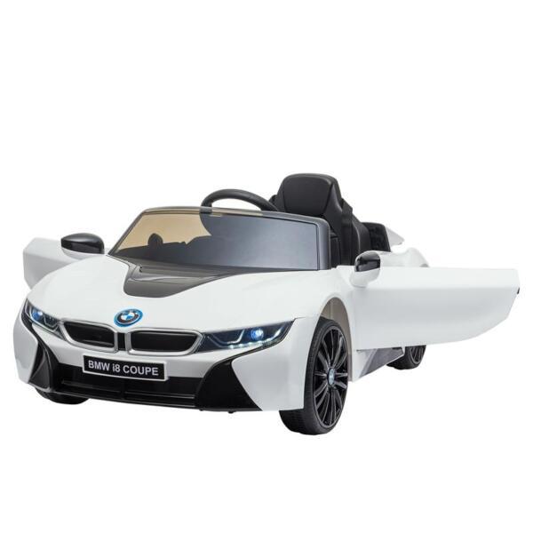 BMW Licensed i8 12V Kids Ride on Car, White bmw licensed i8 12v kids ride on car white 11