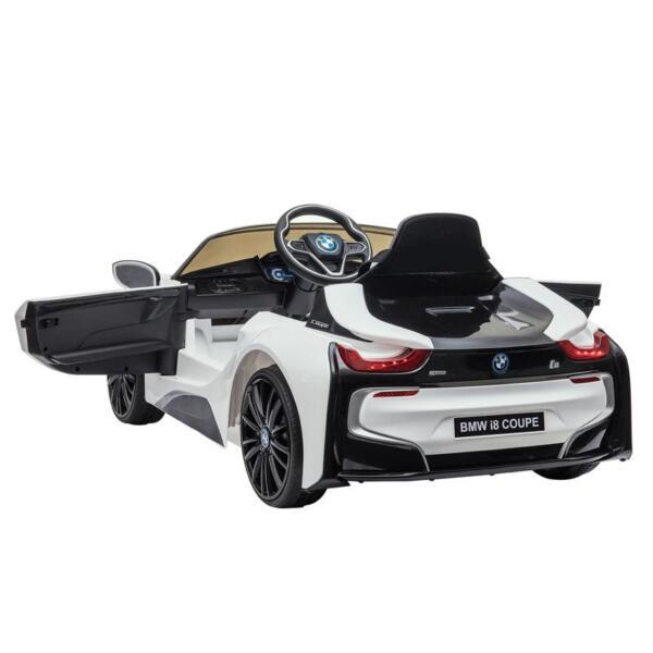 BMW Licensed i8 12V Kids Ride on Car, White bmw licensed i8 12v kids ride on car white 12