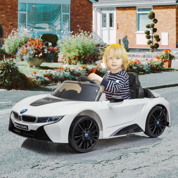 BMW Licensed i8 12V Kids Ride on Car, White bmw licensed i8 12v kids ride on car white 14